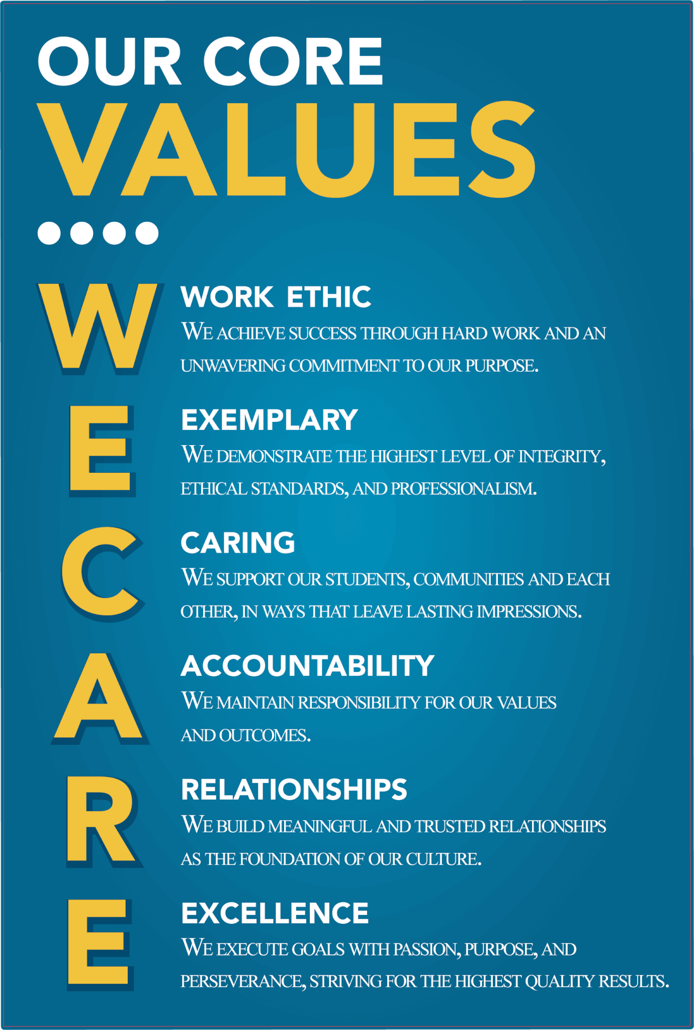 UCI Core Values