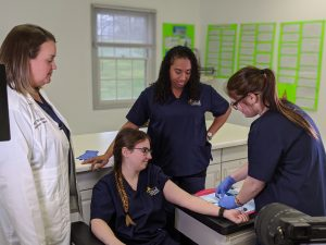Medical Assisting students in lab